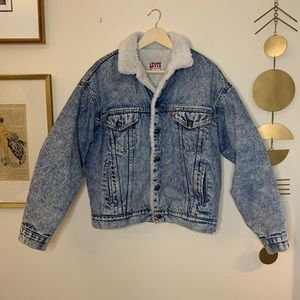 Vintage Levi's Sherpa denim trucker jacket